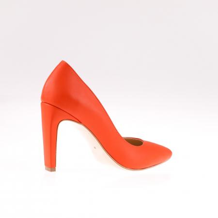 Pantofi stiletto din piele naturala Orange Box2