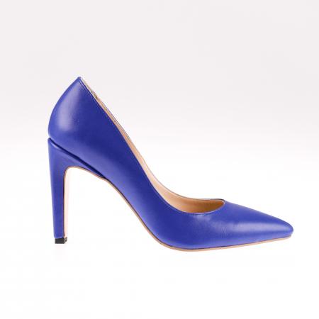 Pantofi stiletto din piele naturala Blue Box0