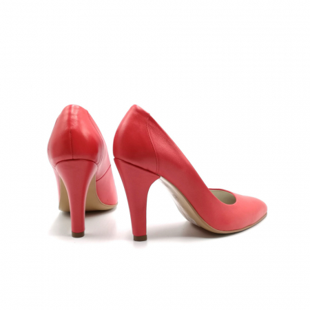 Pantofi stiletto din piele naturala Red Passion3