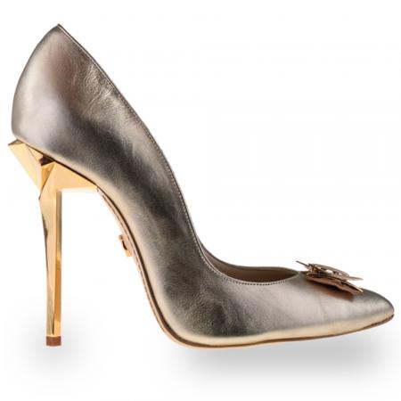 Pantofi stiletto Mihai Albu din piele Illegally Blonde [0]