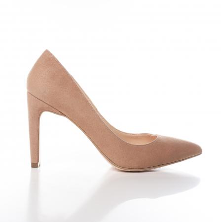 Pantofi stiletto nude din piele intoarsa Briquette [0]