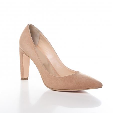 Pantofi stiletto nude din piele intoarsa Briquette [1]