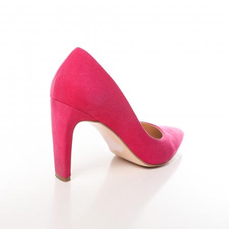 Pantofi stiletto fucsia din piele intoarsa Briquette2