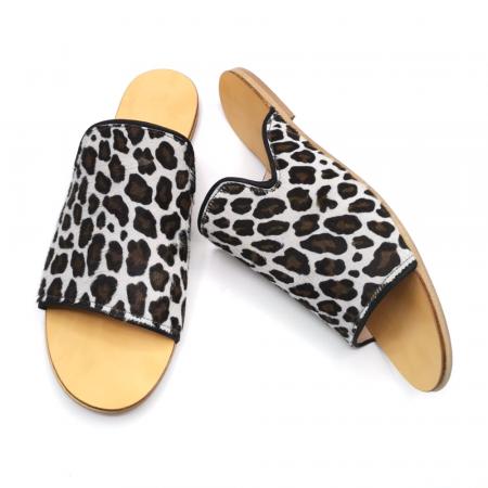 Papuci dama din piele de ponei Araya Animal Print [3]