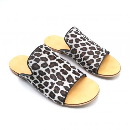 Papuci dama din piele de ponei Araya Animal Print [4]