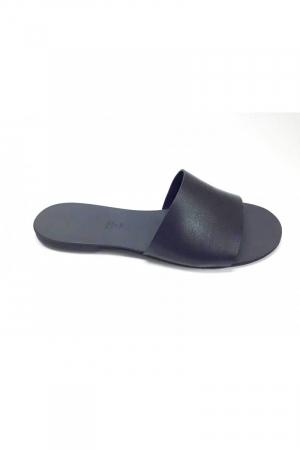 Papuci de dama din piele Black Elisa1