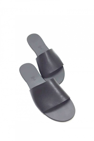 Papuci de dama din piele Black Elisa, 392