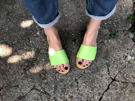 Papuci de dama din piele Elisa Green, 38 [3]