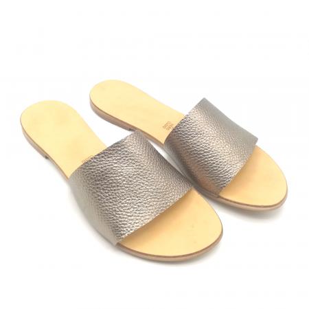 Papuci de dama din piele Elisa Gold1