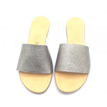 Papuci de dama din piele Elisa Gold2