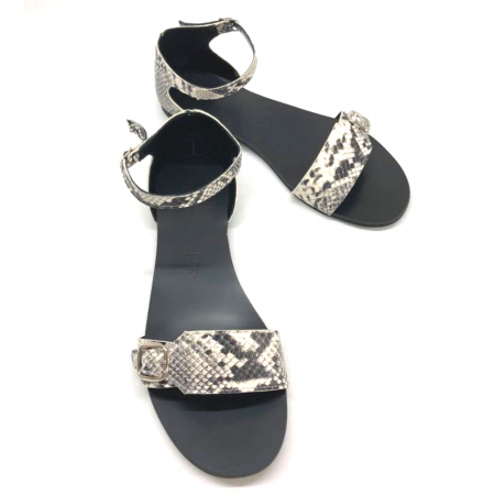 Sandale dama din piele Ada Snake Print1