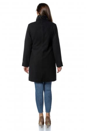 Palton negru dama din stofa cu fermoar PF30, M [2]