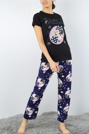 Pijama dama bleumarin din bumbac Too Cute for Words1