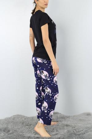 Pijama dama bleumarin din bumbac Too Cute for Words3