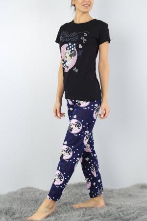 Pijama dama bleumarin din bumbac Too Cute for Words2