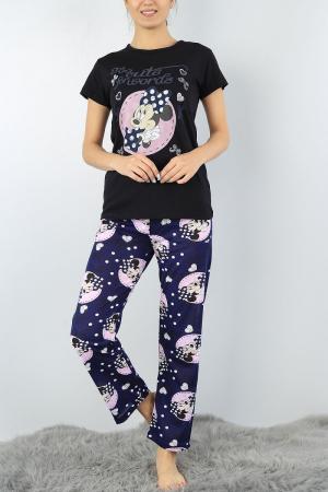 Pijama dama bleumarin din bumbac Too Cute for Words0