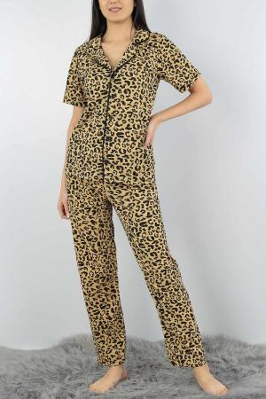 Pijama dama din bumbac cu imprimeu animal print [1]