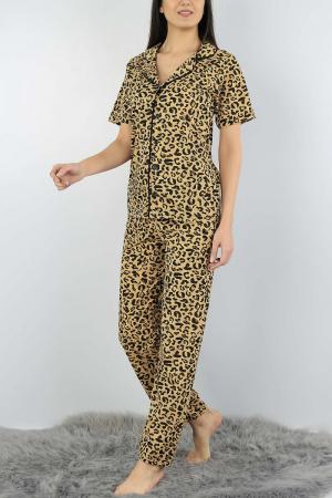 Pijama dama din bumbac cu imprimeu animal print [2]