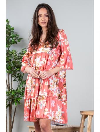 Rochie lejera cu imprimeu floral Coral Yvesse [0]