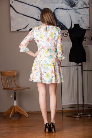 Rochie vaporoasa din voal multicolor Raina2