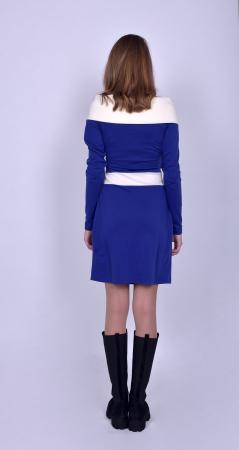 Rochie casual cu maneci lungi Electric Blue1