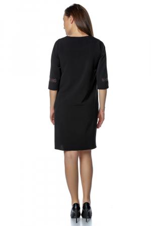 Rochie casual neagra cu broderie motive traditionale RO269 [2]
