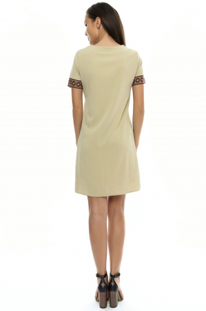 Rochie dama cu insertie printata RO1062