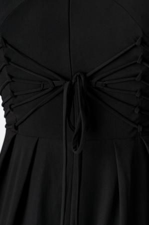Rochie din lycra neagra fara maneci cu buzunare Bella [4]