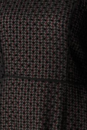 Rochie din voal texturat negru Adella [4]