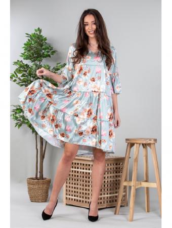 Rochie lejera cu imprimeu floral vernil Yvesse [0]