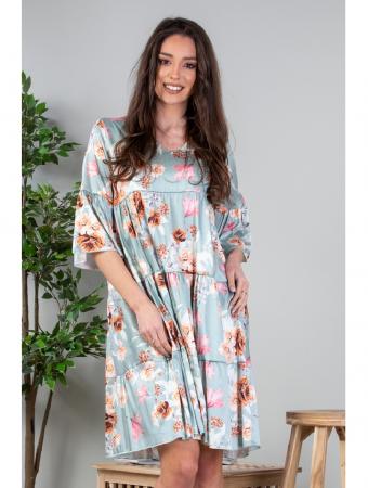 Rochie lejera cu imprimeu floral vernil Yvesse [1]