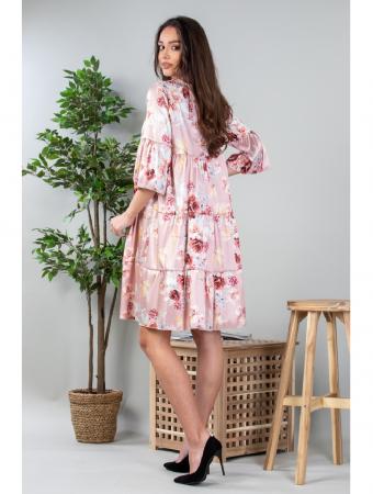 Rochie lejera cu imprimeu floral Roz Yvesse [2]