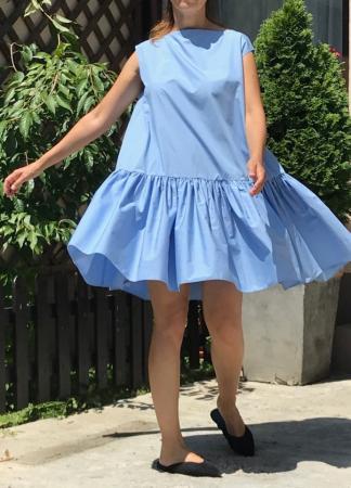Rochie lejera din bumbac Vola Bleu Ciel1