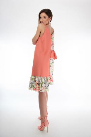 Rochie lejera din voal Coral Magnolia3
