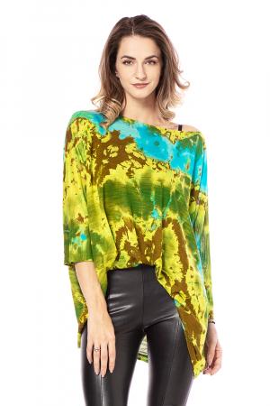 Bluza lejera multicolora cu maneci trei sferturi tye die [0]