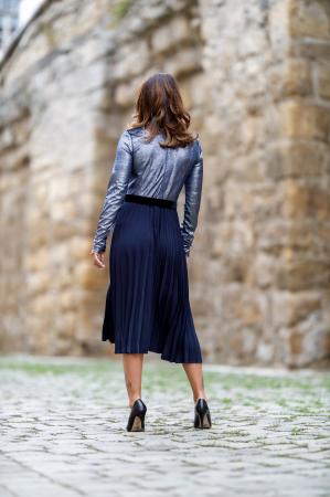 Rochie midi eleganta plisata Alina4
