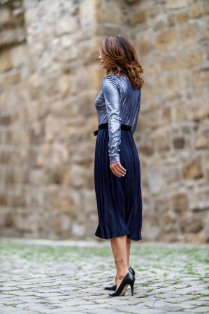 Rochie midi eleganta plisata Alina3