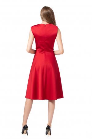 Rochie midi eleganta rosie Delice2