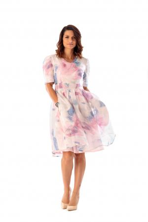 Rochie eleganta din organza cu imprimeu floral, You [0]