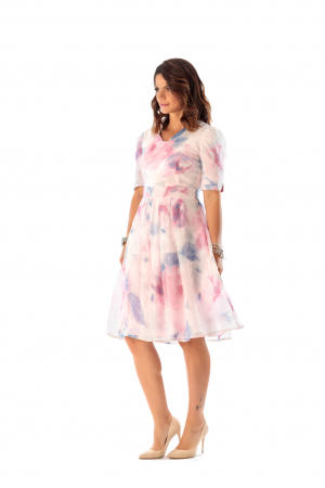 Rochie eleganta din organza cu imprimeu floral, You [2]