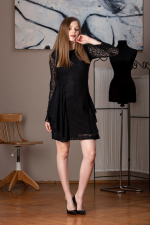Rochie eleganta din dantela neagra Limiam0