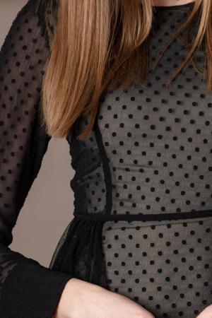 Rochie eleganta neagra din voal fin Limiam1
