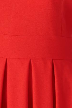 Rochie office rosie cu maneci scurte si pliuri Anias [4]