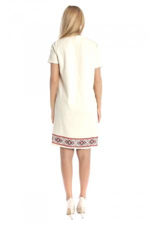 Rochie tip sac cu buzunare si motive traditionale printate RO187, XL2