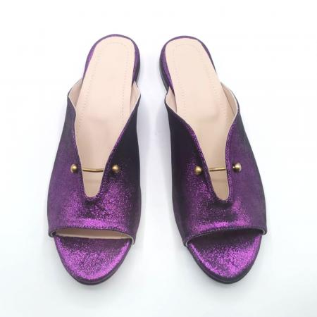 Saboti dama din piele naturala Dia Purple [3]