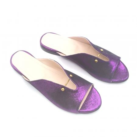 Saboti dama din piele naturala Dia Purple [1]