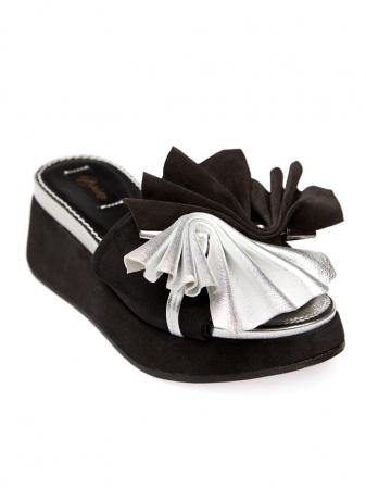 Papuci cu platforma din piele naturala Desiree1