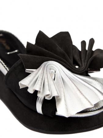 Papuci cu platforma din piele naturala Desiree2