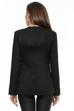 Sacou dama negru din stofa brodata SC04