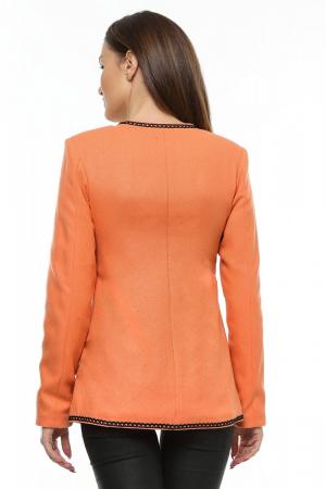 Sacou dama portocaliu din stofa brodata SC05, XL2